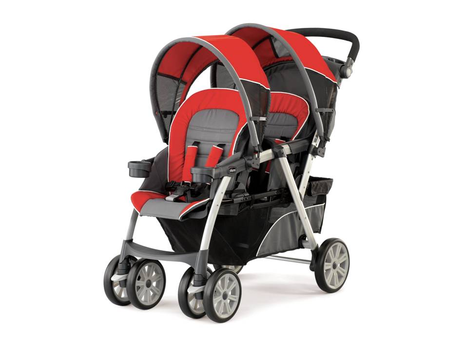 Chicco Cortina Together Double Stroller Fuego Chicco