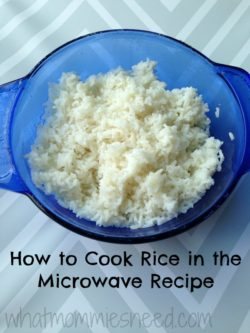 How to Cook Rice in the Microwave Recipe