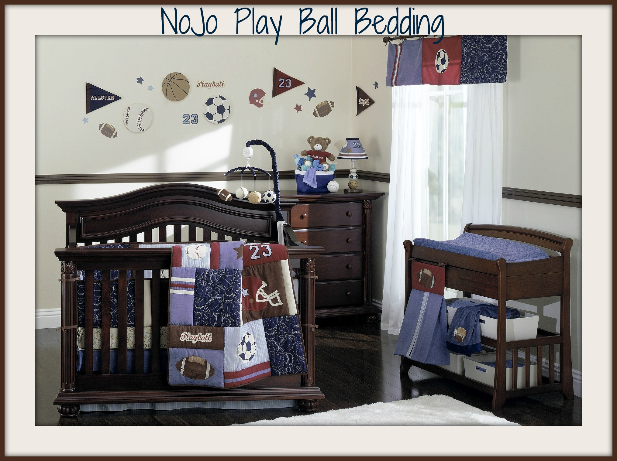 Nojo Play Ball Crib Bedding Set
