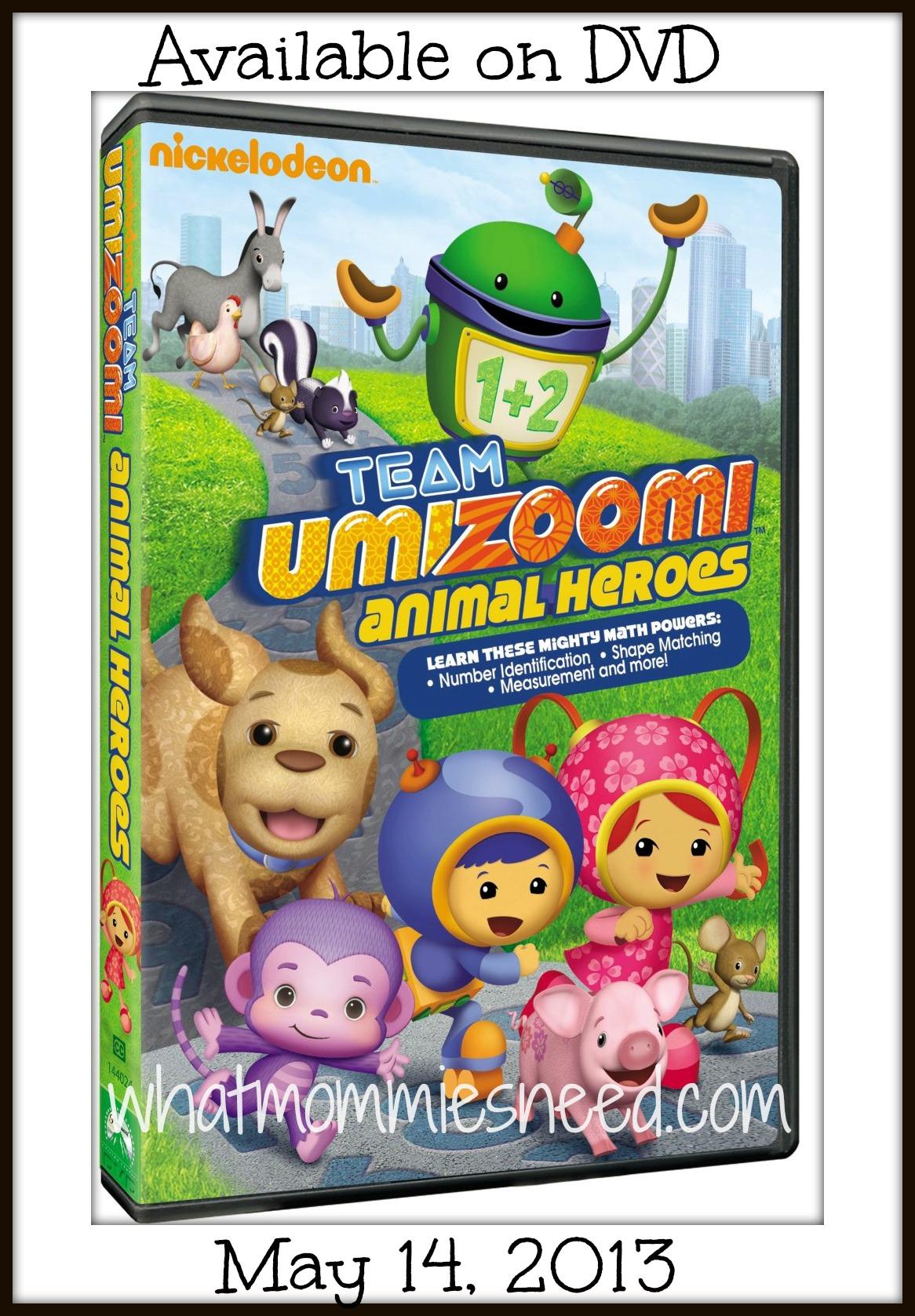 Team Umizoomi: Animal Heroes DVD: Giveaway