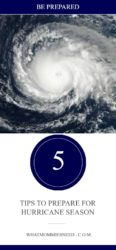 5 Tips to Prepare for Hurricane Season
